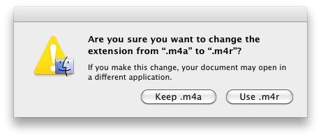 m4r ringtone file iTunes 10