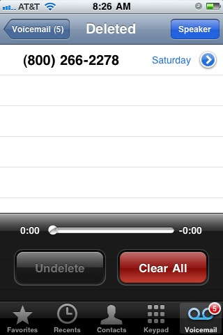 Recover deleted iPhone voicemails