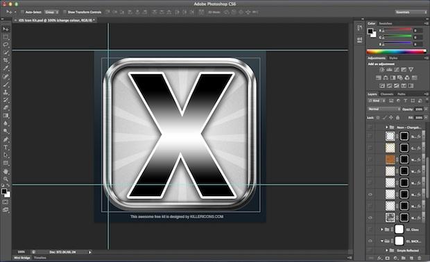 iOS Retina Icon Template 3