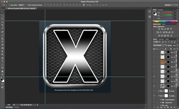 iOS Retina Icon Template 4