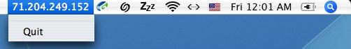 IP address in the menu bar