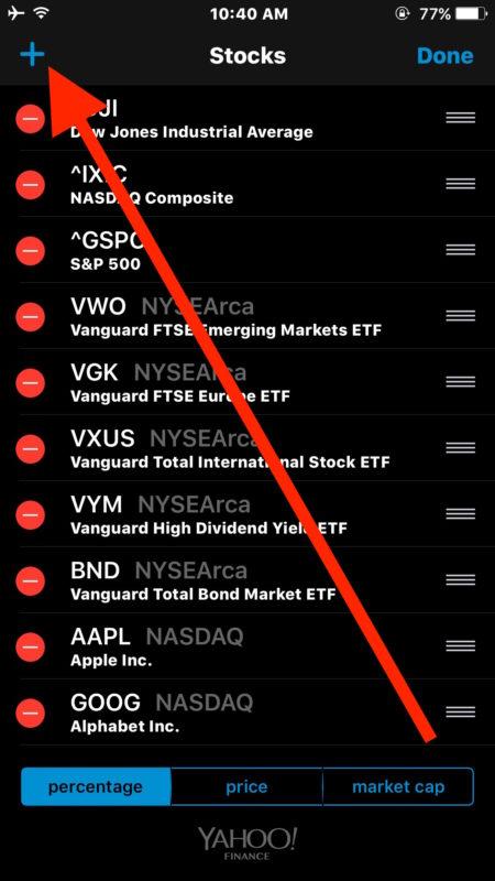 Add a button stock app
