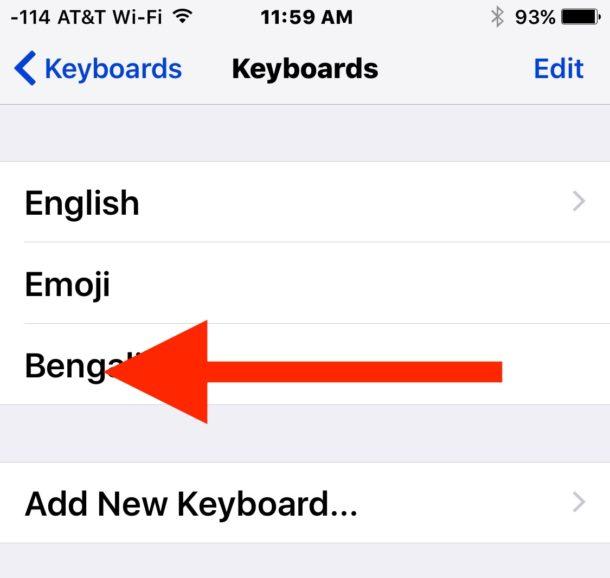 Swipe to remove the keyboard on iOS