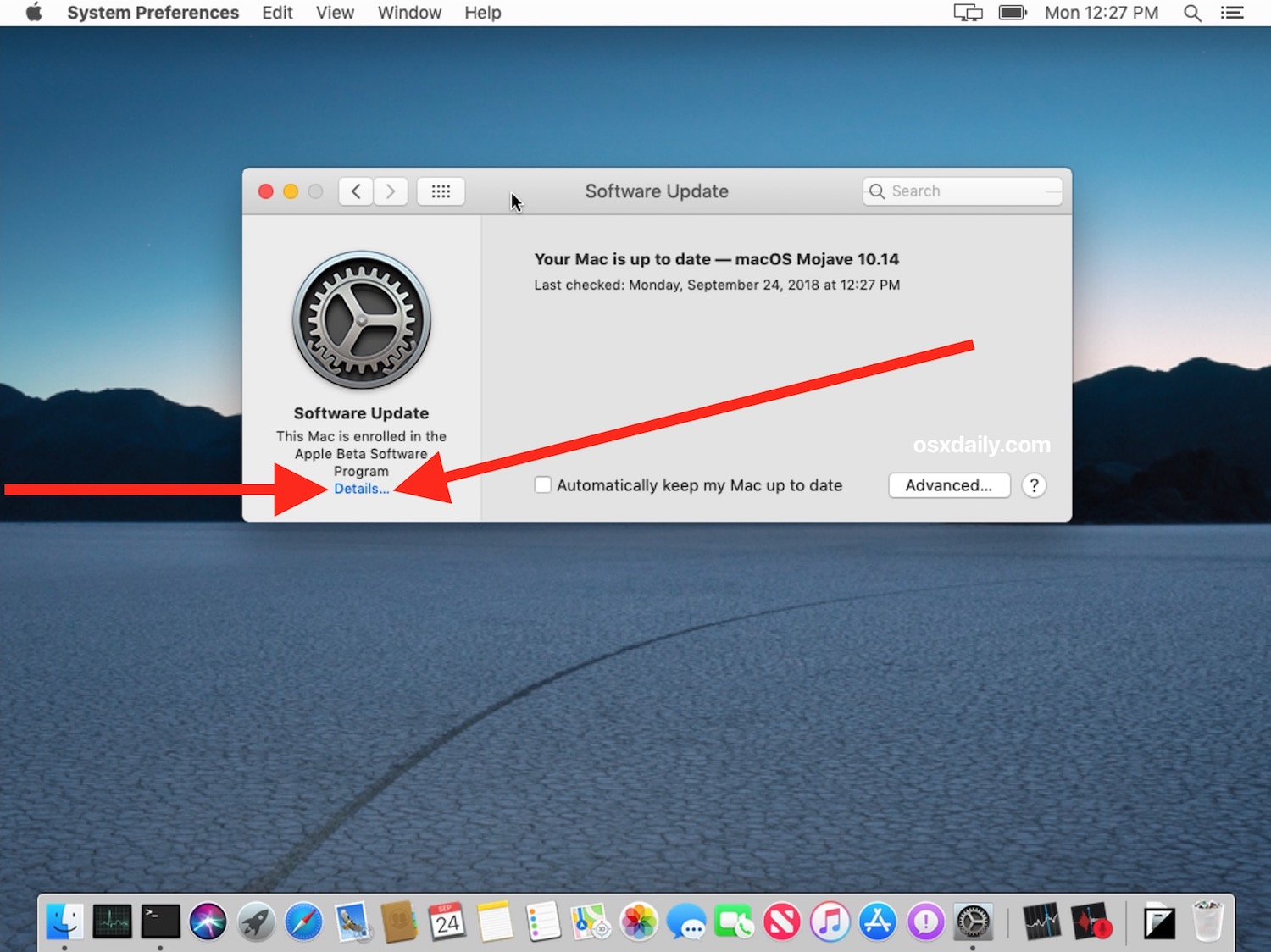 How to exit beta-macOS testing and stop receiving beta system software updates