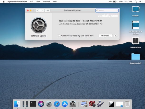 How to update system software on MacOS