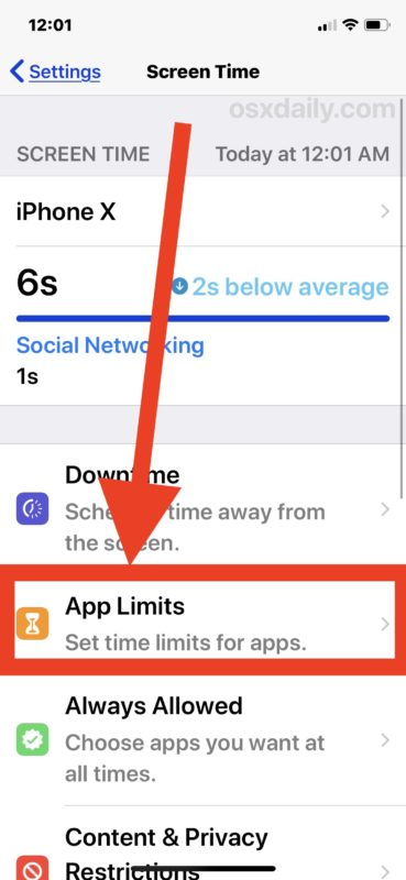 Remove restrictions on the Screen Time app on your iPhone or iPad