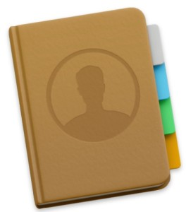 Contacts application on Mac OS X.