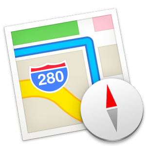 Maps icon on a Mac