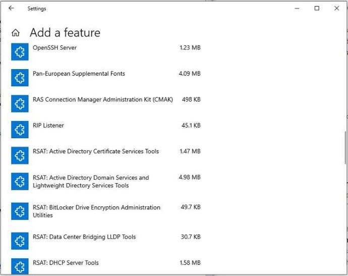 Install Windows 10 1809+ RSAT