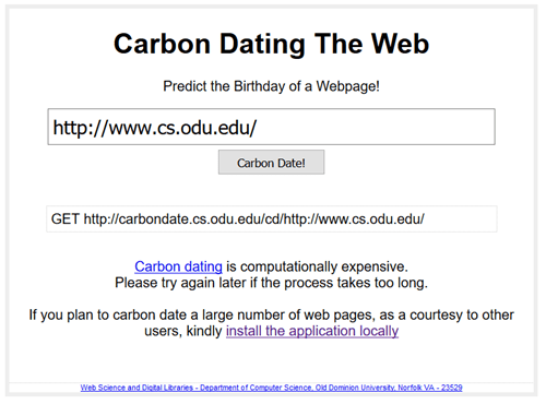 Carbon Dating on the Web