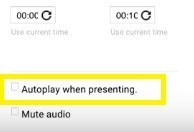 autoplay during presentation