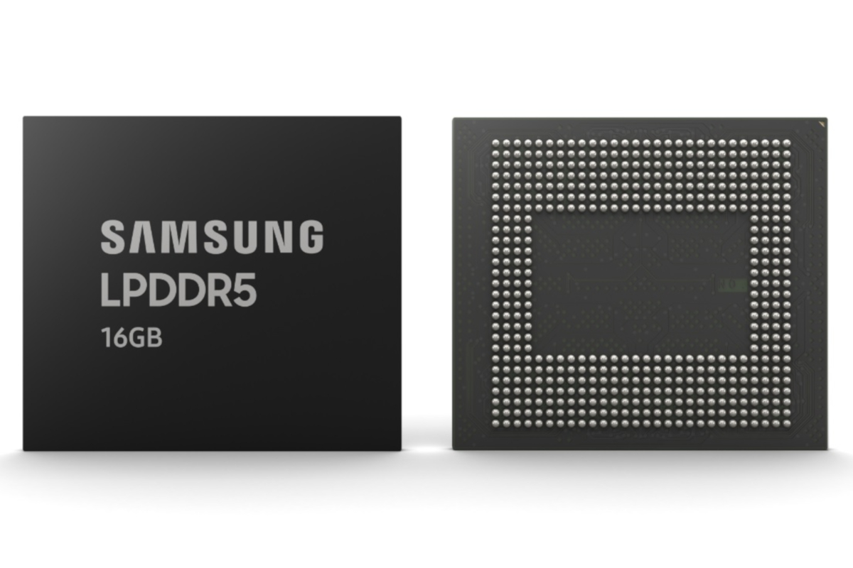 Samsung starts mass-producing 16GB LPDDR5 DRAM chips using 10nm tech