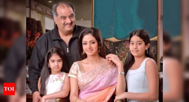 Review: family photo of Sridevi