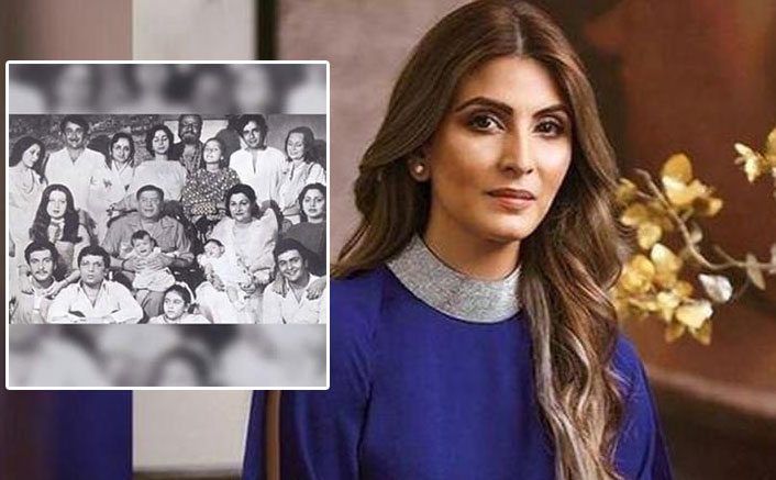 """Riddhima Kapoor embellishes our day with this black and white family portrait """"Kapoor"""""""