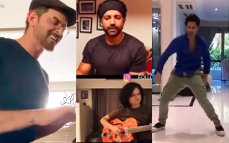 I For India: Hrithik Roshan Plays the piano and Sings; Farhan Akhtar jams With The boys, Varun Dhawan busts Some cool Moves – VIDEOS