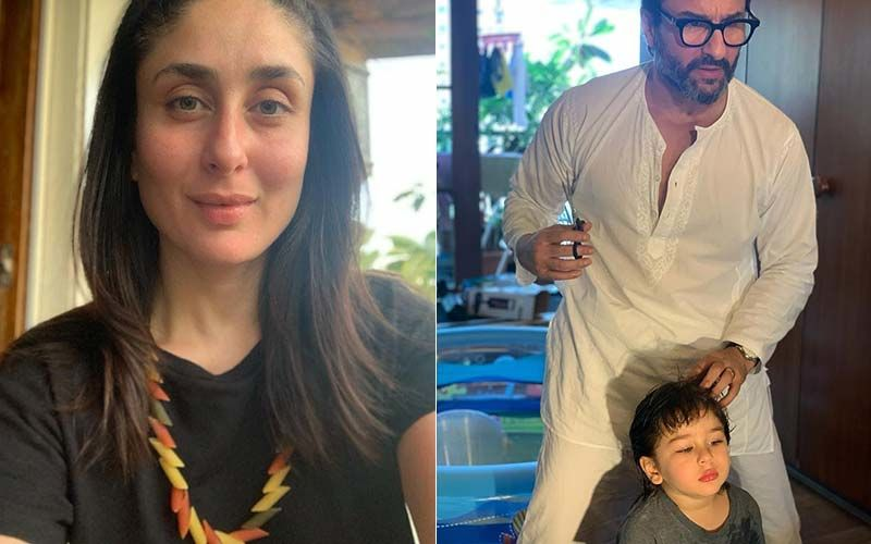 Saif Ali Khan, Revolves Around A Barber For A Little Noise Ali Khan, Taimur; Kareena Kapoor Khan Gushes About Her Young