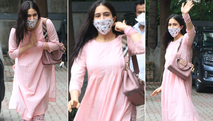 Sara Ali Khan greets the paparazzi with a smile and a namaste as she steps in the middle of the lockdown – view images