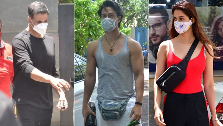 In Pics: Akshay Kumar, Tiger Shroff, Disha Patani snapped in the city in the midst of lockdown