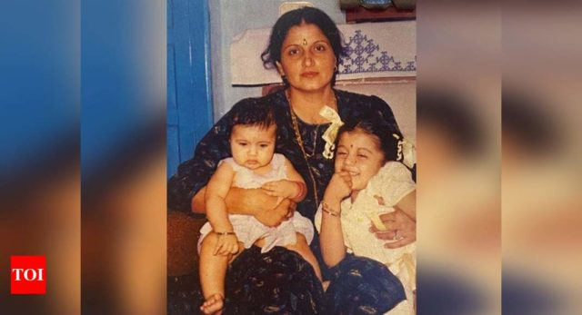 The Indian movie directed contributions from childhood pic with mom & sister