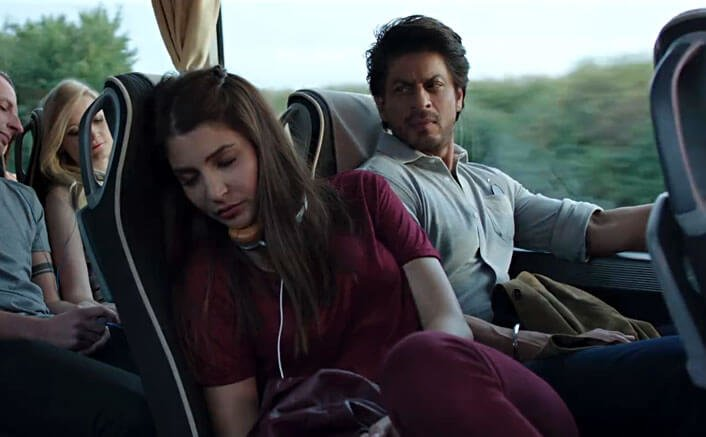 Harry looks from Jab to Sejal in a still picture Harry meets Sejal