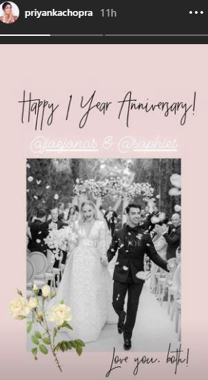 Priyanka Chopra wishes Joe Jonas & Sophie Turner a nice wedding day