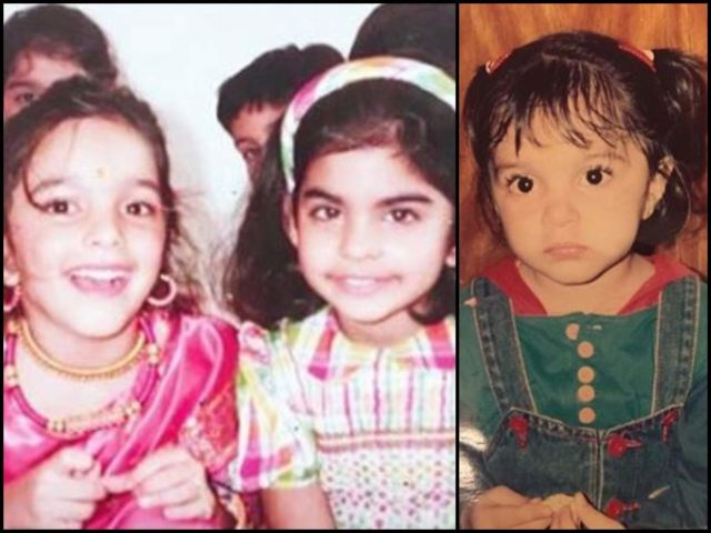Childhood images of Kiara Advani
