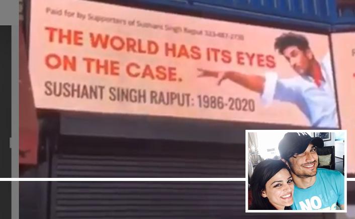 सुशांत की बहन ने दिवंगत अभिनेता (प्रमुख व्यक्ति) के लिए हॉलीवुड बिलबोर्ड का एक वीडियो पोस्ट किया