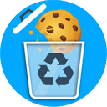 Automatic cookie deletion icon