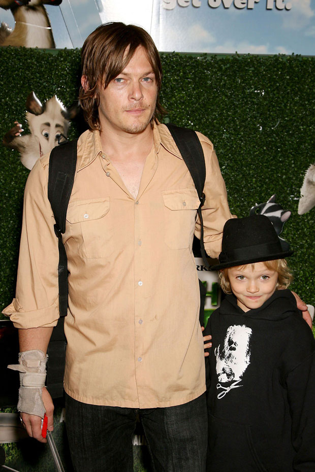 Norman Reedus with his son Mingus: